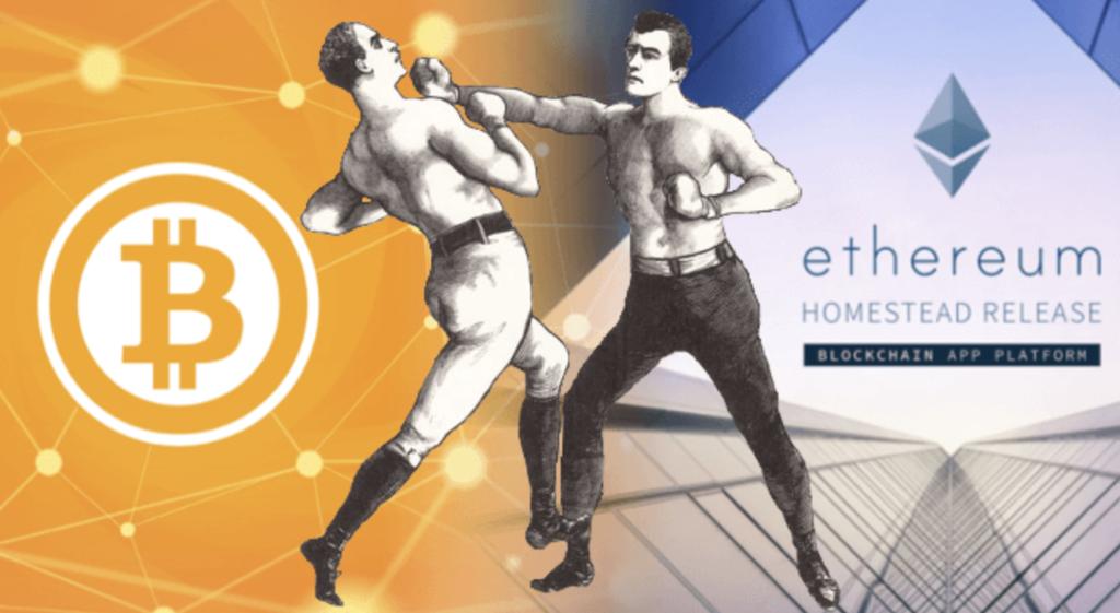 Bitcoin vs Ethereum Pariuri